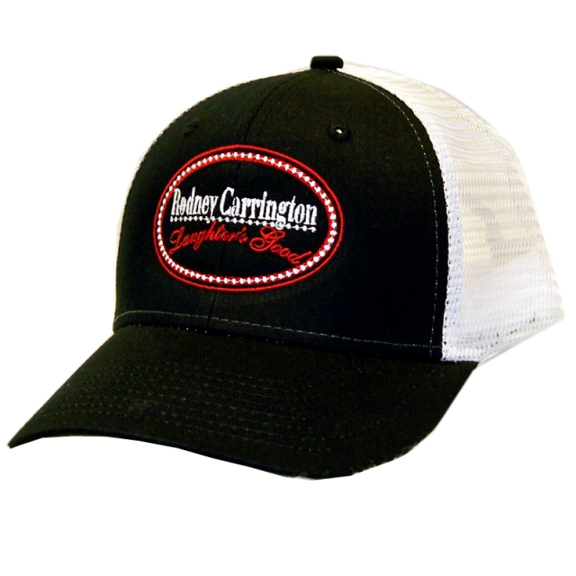 Rodney Carrington Black and White Ballcap