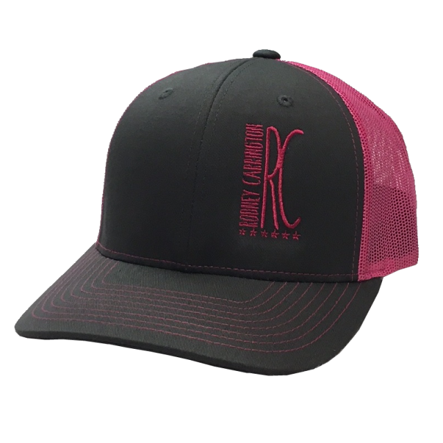 Rodney Carrington Charcoal and Pink Ballcap