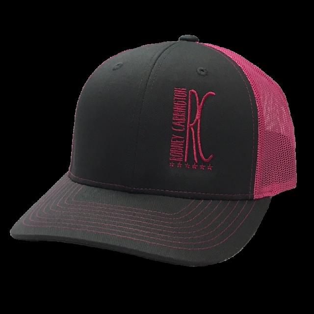 Rodney Carrington Charcoal and Pink Ballcap