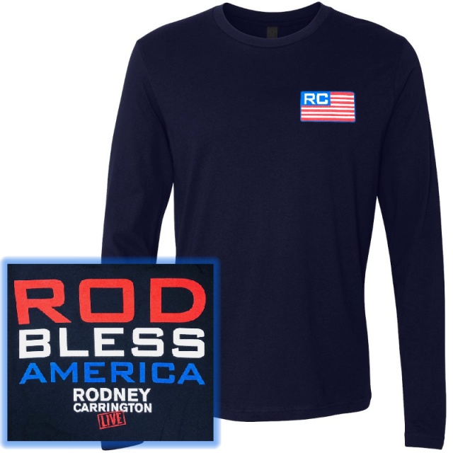 Rodney Carrington Long Sleeve Navy Tee